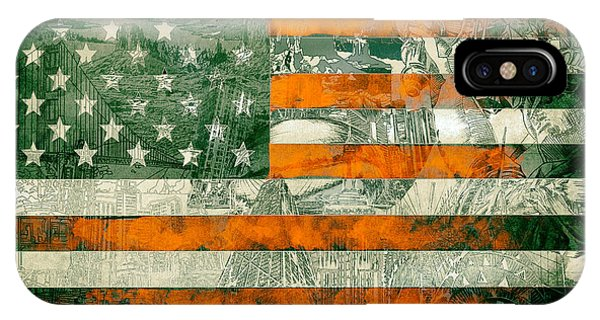 July 4 iPhone Case - Usa Flag 5 by Bekim Art