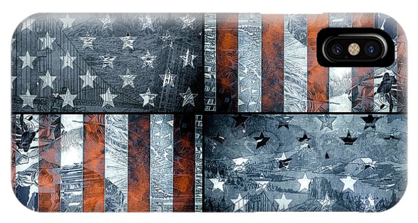 July 4 iPhone Case - Usa Flag 7 by Bekim Art