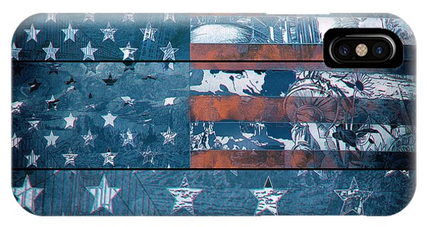July 4 iPhone Case - Usa Flag 8 by Bekim Art