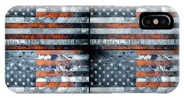 July 4 iPhone Case - Usa Flag 9 by Bekim Art