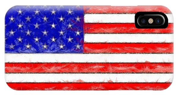 Usa Flag  - Pencil Style -  - Da IPhone Case