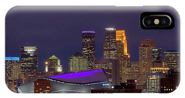 Usbank Stadium Dressed In Purple IPhone Case