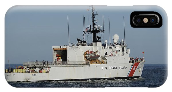 Uscgc Escanaba Heads To Sea IPhone Case