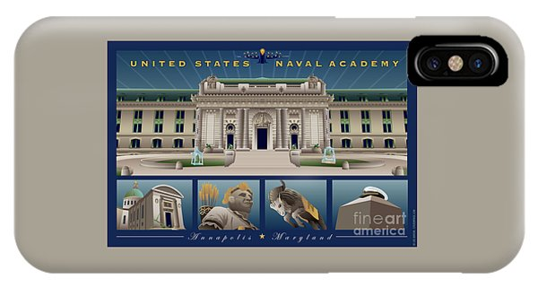 Usna Monuments Tribute 2 IPhone Case