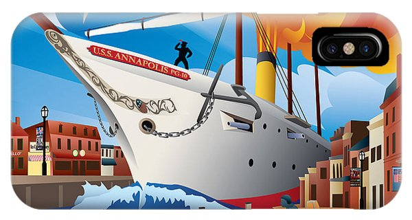 Uss Annapolis In Ego Alley IPhone Case