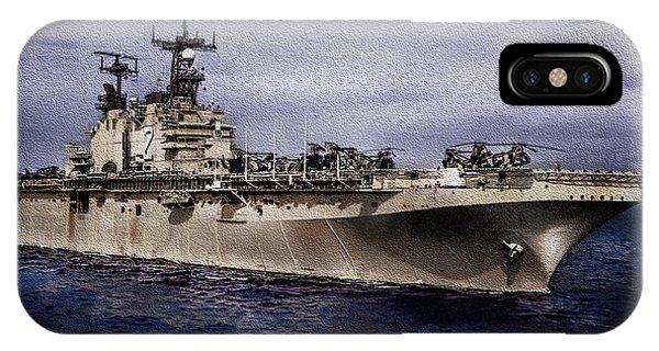Uss Iwo Jima Lph2 IPhone Case
