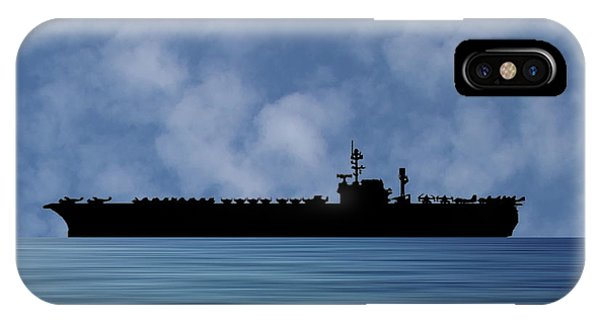 Hawk iPhone Case - Uss Kitty Hawk 1955 V1 by Smart Aviation