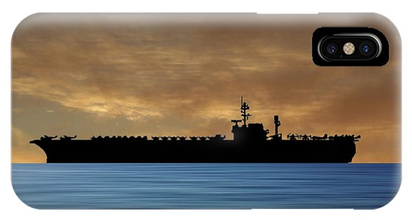 Hawk iPhone Case - Uss Kitty Hawk 1955 V2 by Smart Aviation