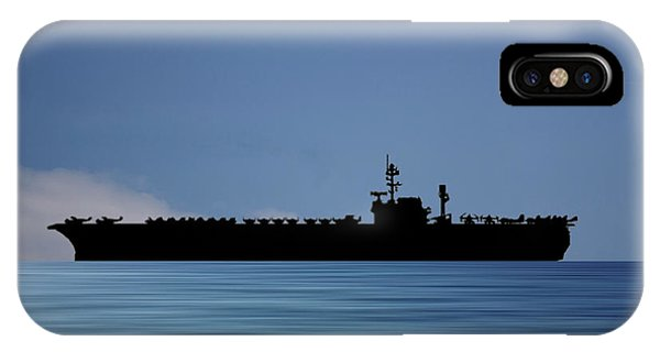 Hawk iPhone Case - Uss Kitty Hawk 1955 V4 by Smart Aviation