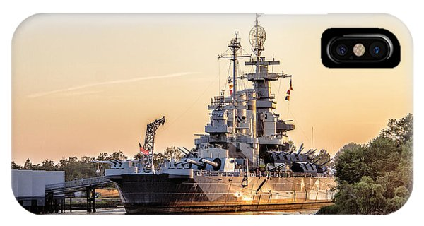 Uss North Carolina Sunset IPhone Case
