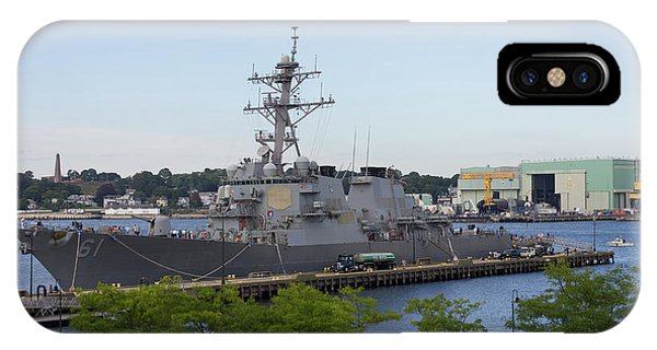 IPhone Case featuring the photograph Uss Ramage In New London by Kirkodd Photography Of New England