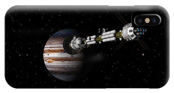 Uss Savannah Approaching Jupiter IPhone Case