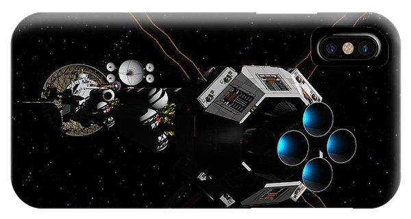 Uss Savannah In Deep Space IPhone Case
