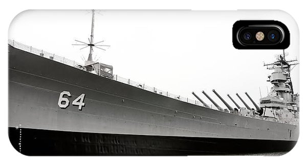 Uss Wisconsin - Port-side IPhone Case