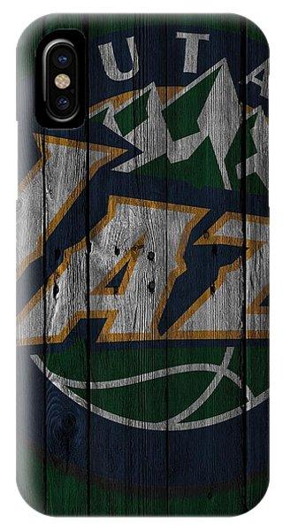 Utah Jazz Wood Fence IPhone Case