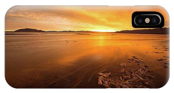 Utah Lake Sunset IPhone Case