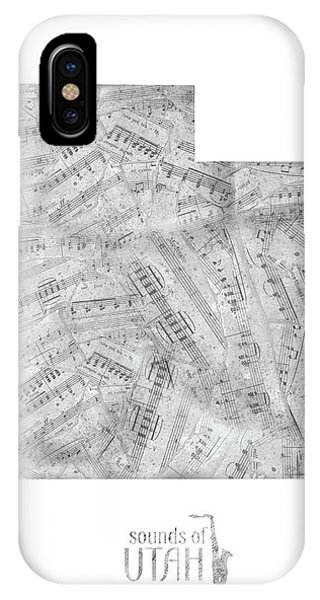 Utah Map Music Notes IPhone Case