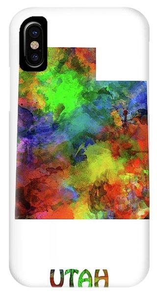 Utah Map Watercolor IPhone Case