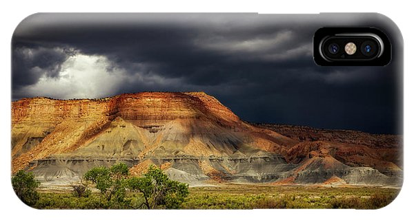 Utah Mountain With Storm Clouds IPhone Case
