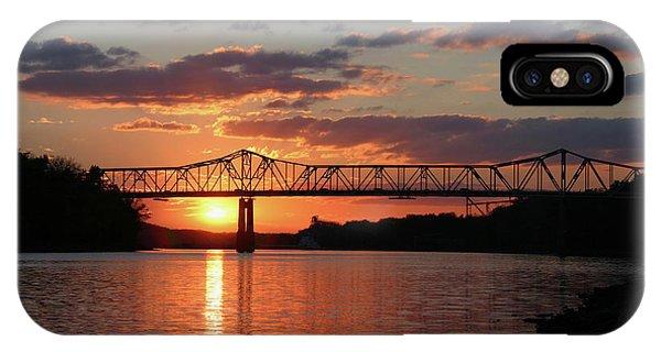 Utica Bridge At Sunset IPhone Case