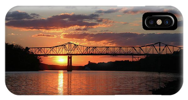 Utica Bridge At Sunset IPhone Case