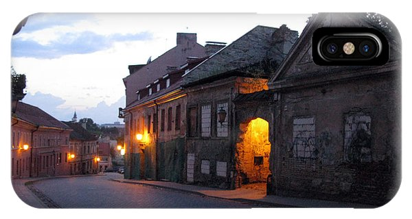 Uzupis Street. Old Vilnius. Lithuania. IPhone Case