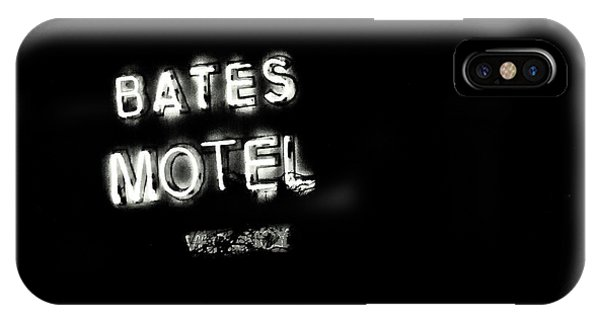 Vacancy At Bates Motel Bw IPhone Case