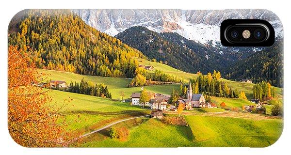 Val Di Funes, Italy IPhone Case