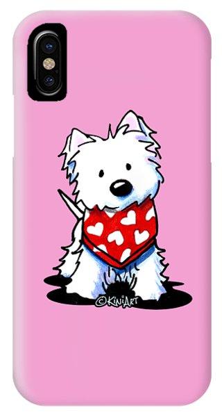 Valentine Westie IPhone Case