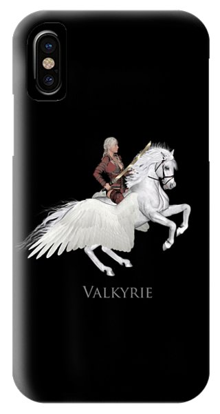 IPhone Case featuring the painting Valkyrie by Valerie Anne Kelly