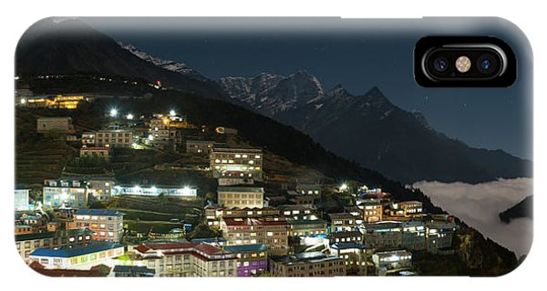 IPhone Case featuring the photograph Valley Clouds In Namche Bazaar by Owen Weber
