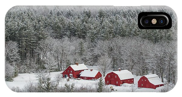 Valley Farm In Winter IPhone Case