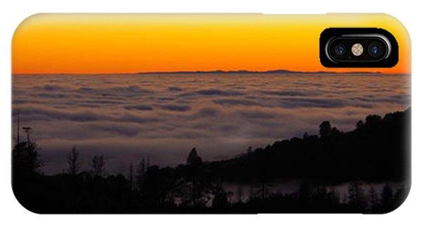 Valley Fog Twilight IPhone Case