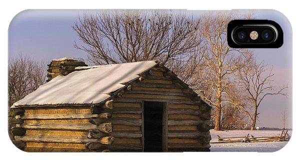 Valley Forge Cabin At Sunset IPhone Case