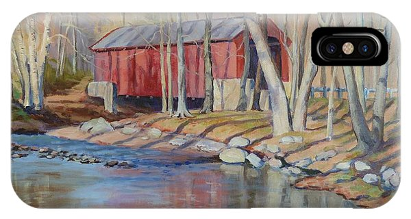 Valley Forge Covered Bridge IPhone Case