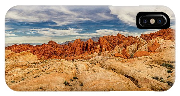 IPhone Case featuring the photograph Valley Of Fire Panorama by Rikk Flohr