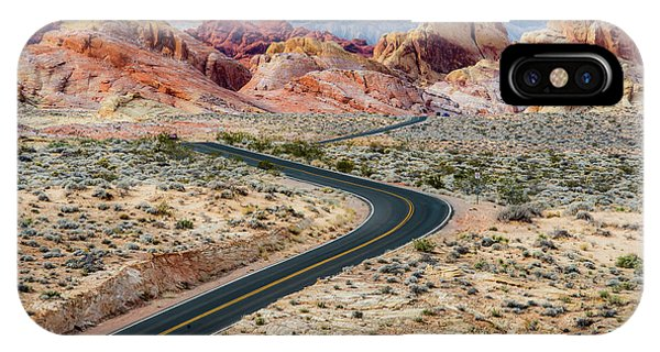 Road Through The Valley Of Fire IPhone Case