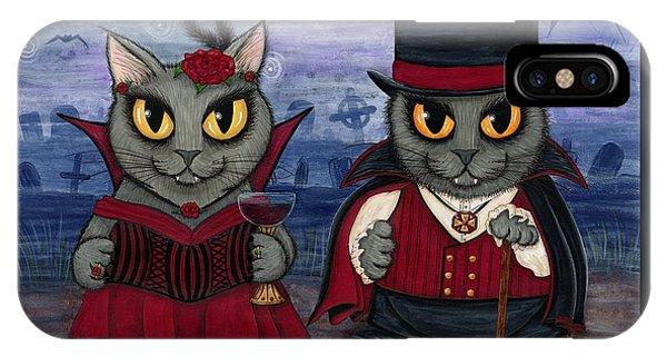 Vampire Cat Couple IPhone Case