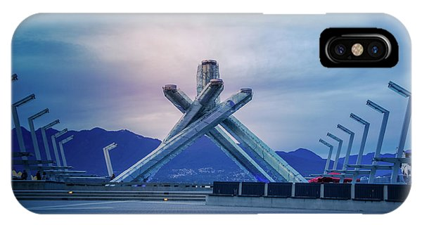 Cauldron iPhone Case - Vancouver 2010 Olympic Cauldron by Art Spectrum