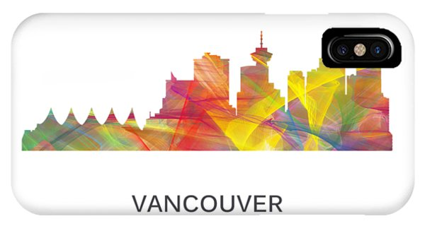 Vancouver City iPhone Case - Vancouver B.c. Skyline by Marlene Watson