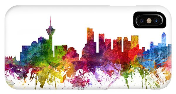 Vancouver Skyline iPhone Case - Vancouver Canada Cityscape 06 by Aged Pixel