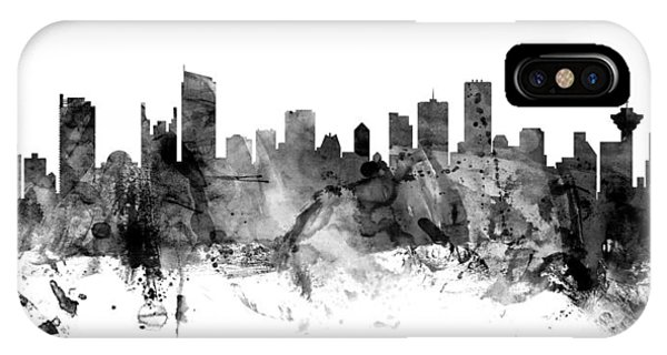 Vancouver Skyline iPhone Case - Vancouver Canada Skyline Panoramic by Michael Tompsett