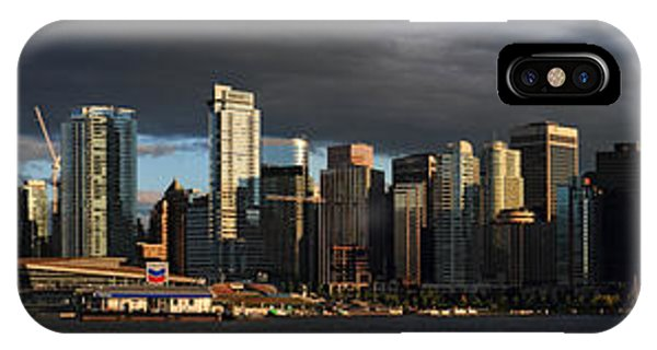 Vancouver City Sunset Panorama From Stanley Park Phone Case by Pierre Leclerc Photography