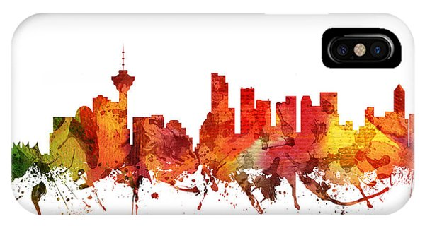 Vancouver City iPhone Case - Vancouver Cityscape 04 by Aged Pixel