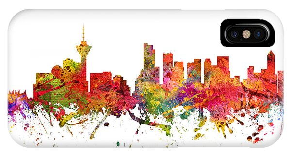 Vancouver Skyline iPhone Case - Vancouver Cityscape 08 by Aged Pixel