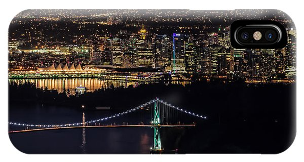Vancouver Night From Cypress Mountain IPhone Case