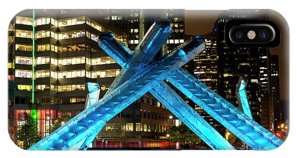 Vancouver Olympic Cauldron At Night IPhone Case