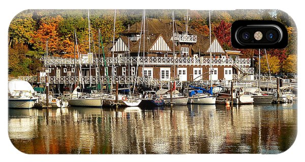 Vancouver Rowing Club In Autumn IPhone Case