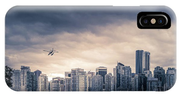 City Sunset iPhone Case - Vancouver Skyline by Art Spectrum