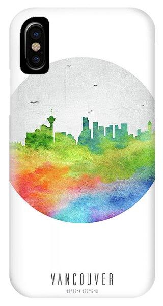 Vancouver City iPhone Case - Vancouver Skyline Cabcva20 by Aged Pixel